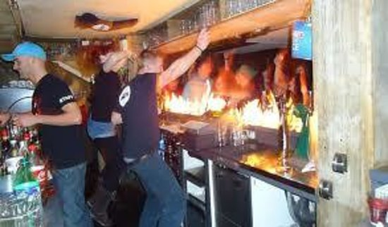 The Mouth Bar : the bar on fire