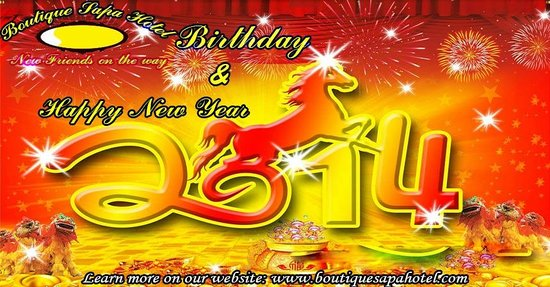 Promotion 2014 for the new year and Boutique Sapa Hotel's birthday
