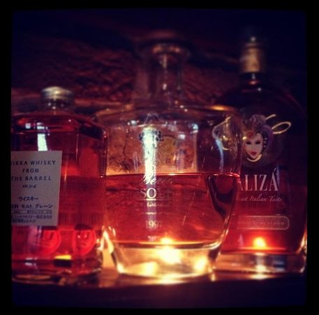 The Cross Keys: Selection of grappa and whisky