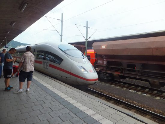 Hotel Panorama: Our ICE train to Koln/Bonn Airport.