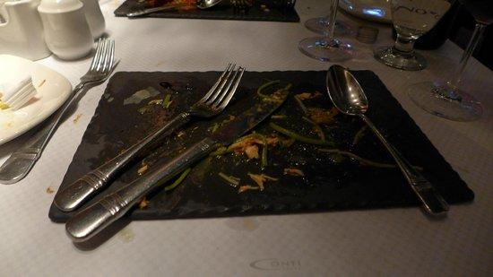 Conti Caffe: Salte Plate.. Such Presentation