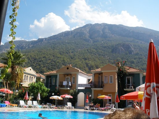The Tower Hotel: The pool and paragliding mountain