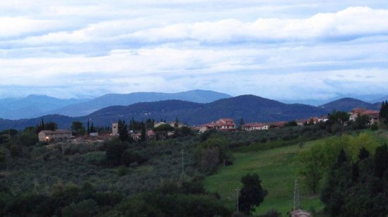 Villa Le Torri: view from our room