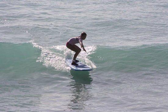 Burkie Surf School : Maddie at Burkies Surf School