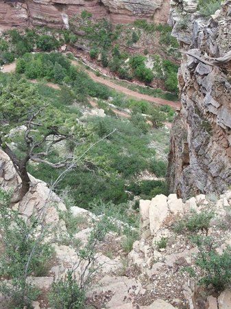 Cave of the Winds : View from the top of the cave area.