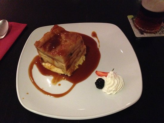 The Pins Gastro Bar: Bread and butter pudding