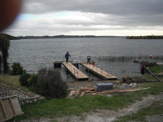 Cabañas Puerto Rosales: Muelle en construcción