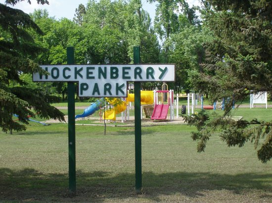 Hockenberry Park in Oakes, ND - Parking available
