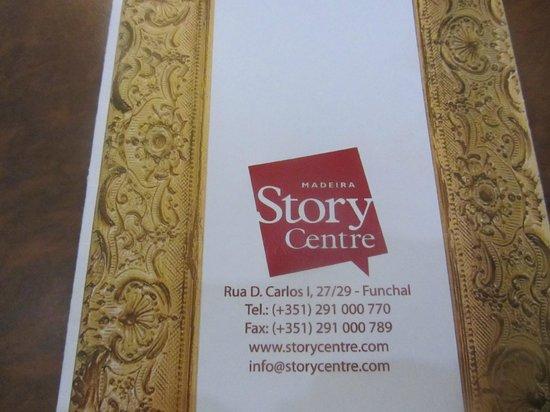 Madeira Story Centre: Speisekarte