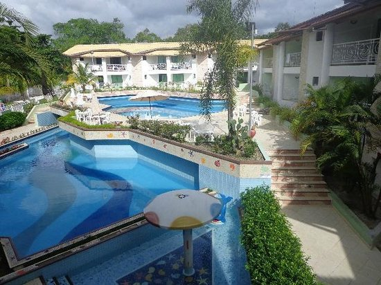 Portal do Mundaí Praia Hotel : Foto panorâmica da área da Piscina.