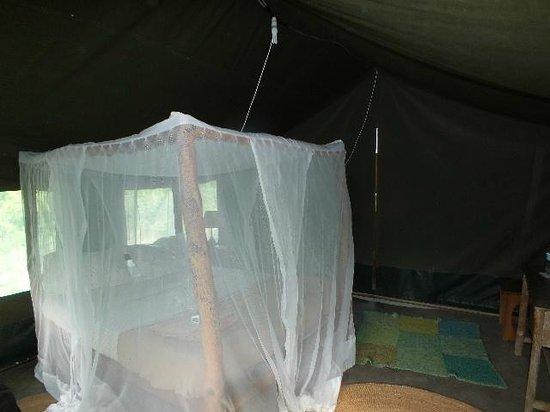 Ol Mesera Tented Camp: Netted fourposter.
