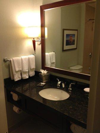 Hilton Miami Downtown : Bath and mirror