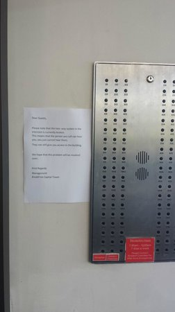 BreakFree Capital Tower Canberra: No contact with night staff/manager