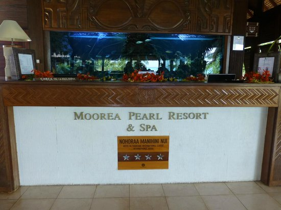 Manava Beach Resort & Spa - Moorea: Reception