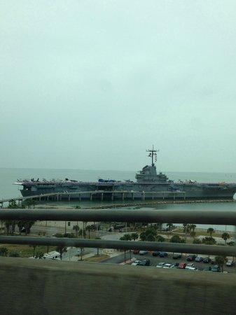 USS LEXINGTON : View from bridge