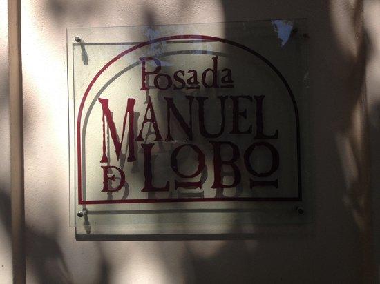 Hotel posada Manuel de lobo : placa da pousada