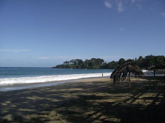 Grafton Beach Resort: Beach to the right
