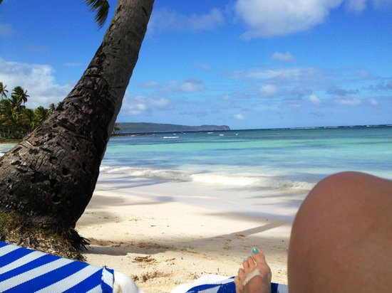 Grand Paradise Samana : view from the beach chair