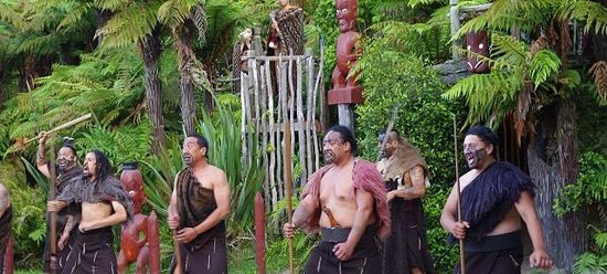 Village maori de Tamaki : Welcome ceremony