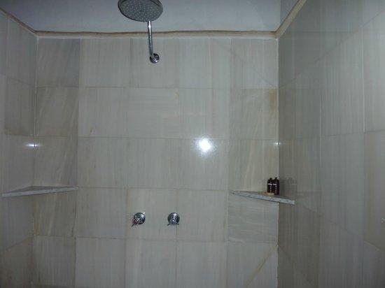 La Lancha Lodge: nice big shower