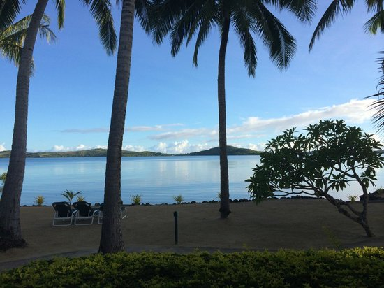 Wananavu Beach Resort: view from beach