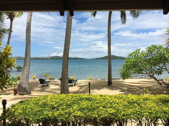 Wananavu Beach Resort: view from bure 6
