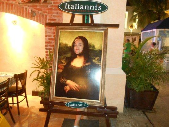 Italiannis: Uma pintura francesa, num restaurante italiano, em pleno México