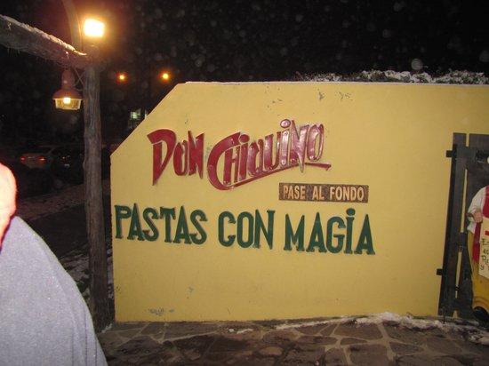 Don Chiquino: A entrada