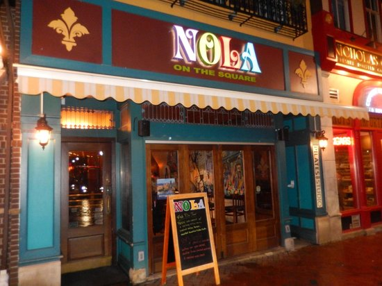 Front Of The Restaurant Picture Of Nola On The Square