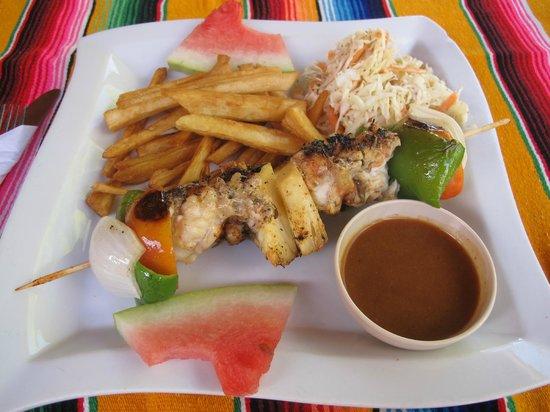 Rose's Grill & Bar: Lobster skewer