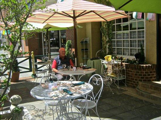 Violino Ristorante Italiano : Brian enjoying the sunny patio