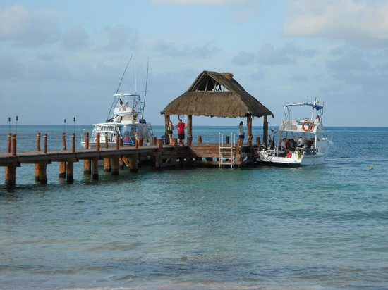 Secrets Aura Cozumel: Tons of boat traffic at the dock as all the tour operators will pick you up here.  Lots to see!