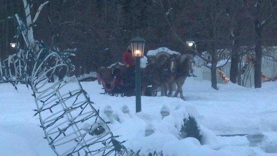 Christmas Farm Inn & Spa : carraige ride at nestlenook down the road