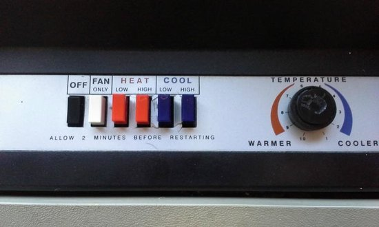 Red Roof Inn Roanoke - Troutville: The heating controls. Note, no