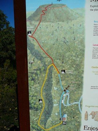 Lesueur National Park: map of walk trails