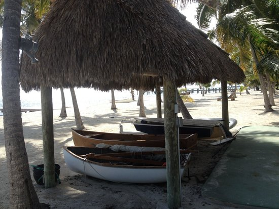 The Moorings Village: Boats on the beach