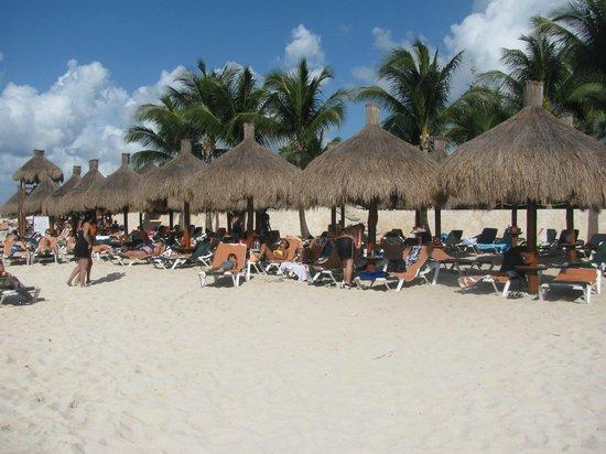 Occidental Cozumel: Cabanas on Beach