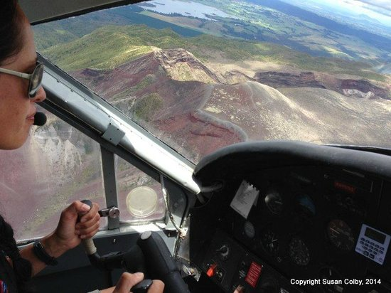 Volcanic Air: Flying over the volcanic area