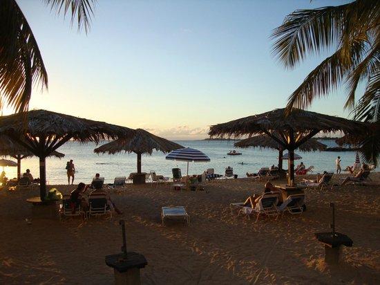 Flamingo Beach Resort: View from the veranda of our room