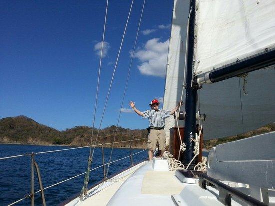 Surfari del Mar - Day Tours: Our friend Bill at the mast