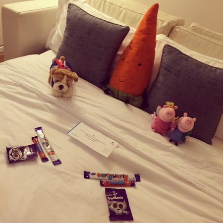 Park Plaza County Hall London: we came back one night to this surprise on her bed