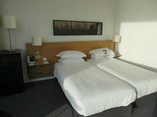 DoubleTree by Hilton Hotel Amsterdam Centraal Station : シングルベット2つ