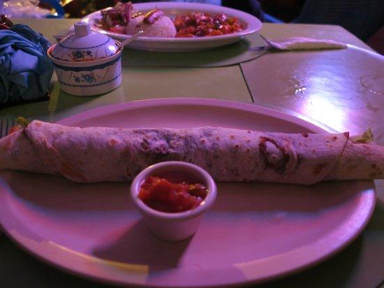 Erva's: A burrito