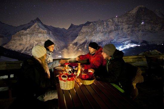 Grindelwald, Sveits: Nachtschlitteln Bussalp