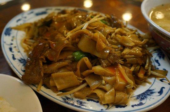 New Hon Wong Restaurant: Stir Fried Beef Rice Noodles