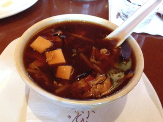 P.F. Chang's: Hot n Sour soup...nice tangy feeling