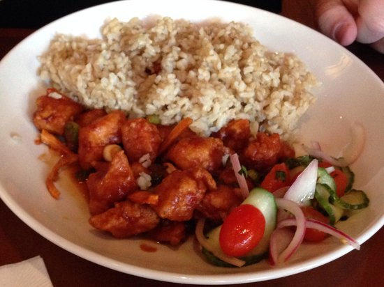 Orange Peel Chicken Lunch Picture Of P F Chang S Anaheim Tripadvisor