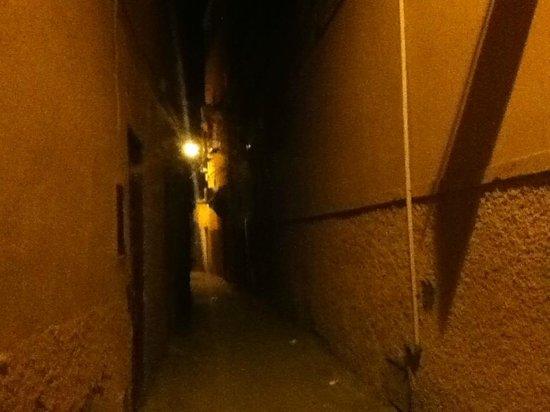Riad Al Badia: ホテルの前の路地