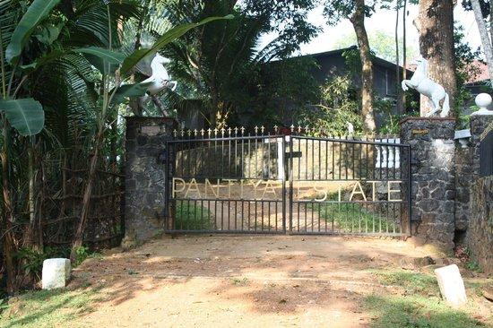 The Bungalow at Pantiya Estate: gate to the Estate