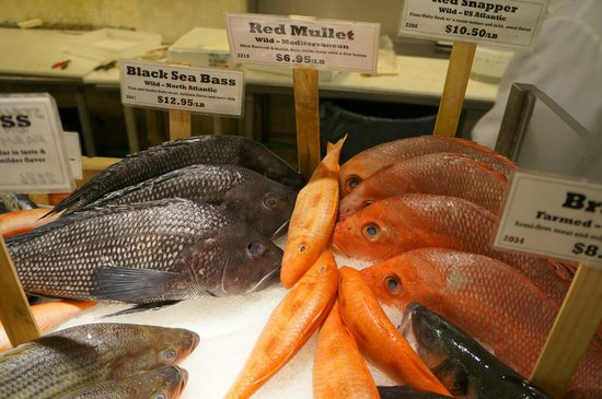 The Lobster Place: Variety of Fish